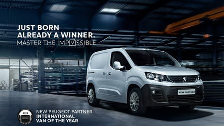 Peugeot Partner Named International Van of the Year