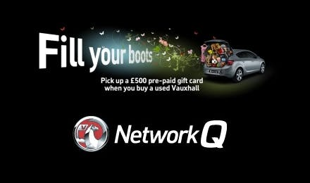Up To £500 Cash Back In The Vauxhall Network Q Spring Sale