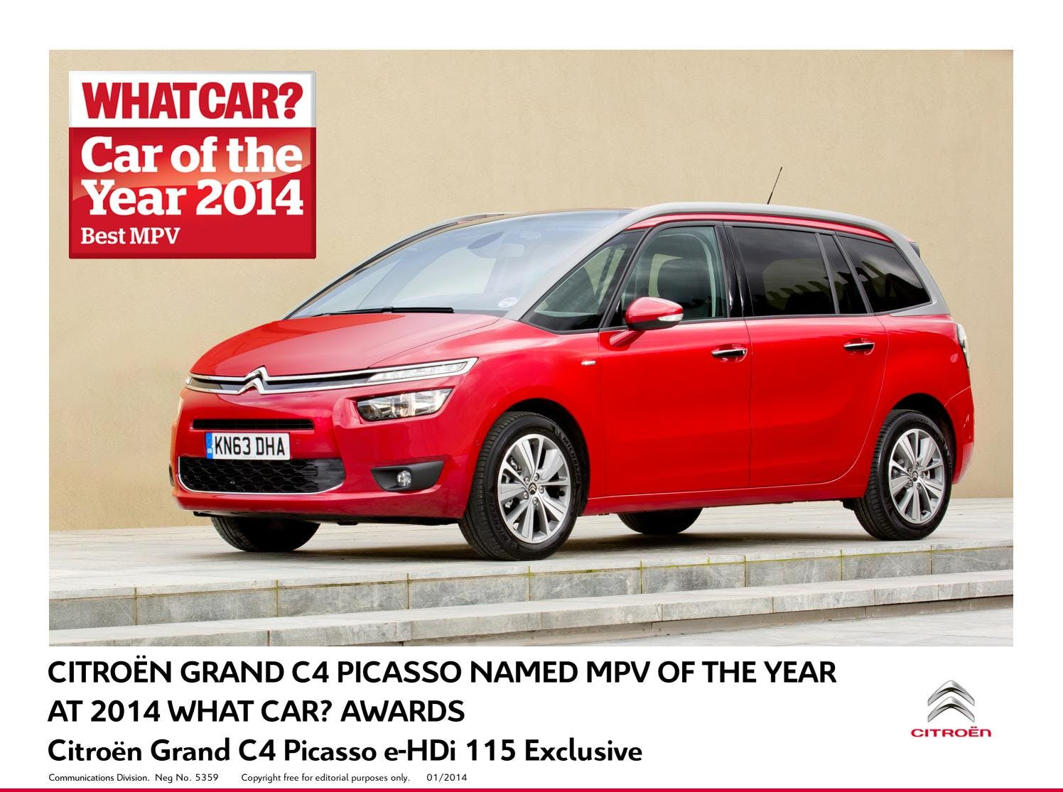 Citroën Grand C4 Picasso Named 'MPV of the Year' By What Car? Magazine