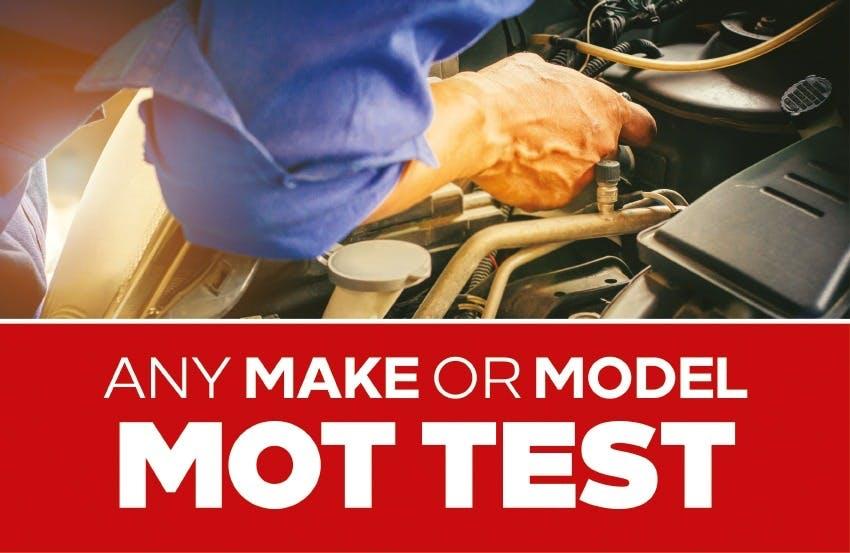 MOT Test For Any Make Or Model
